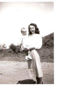 me and mom 1951
