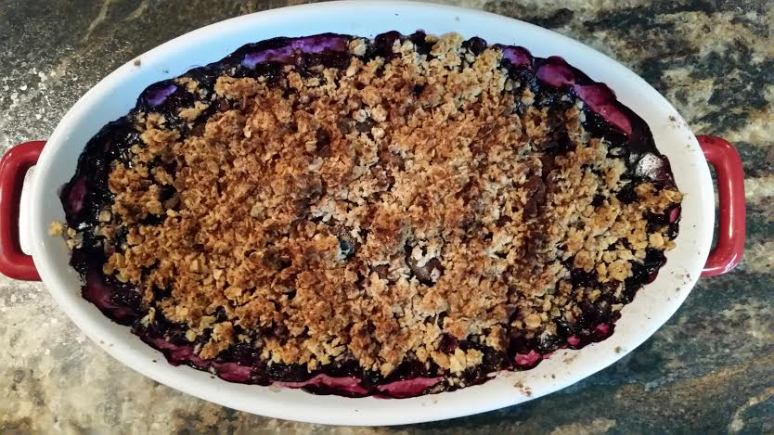 Gluten-Free Blueberry Crumble