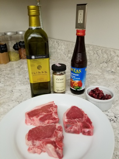 ingredients za'tar lamb chops