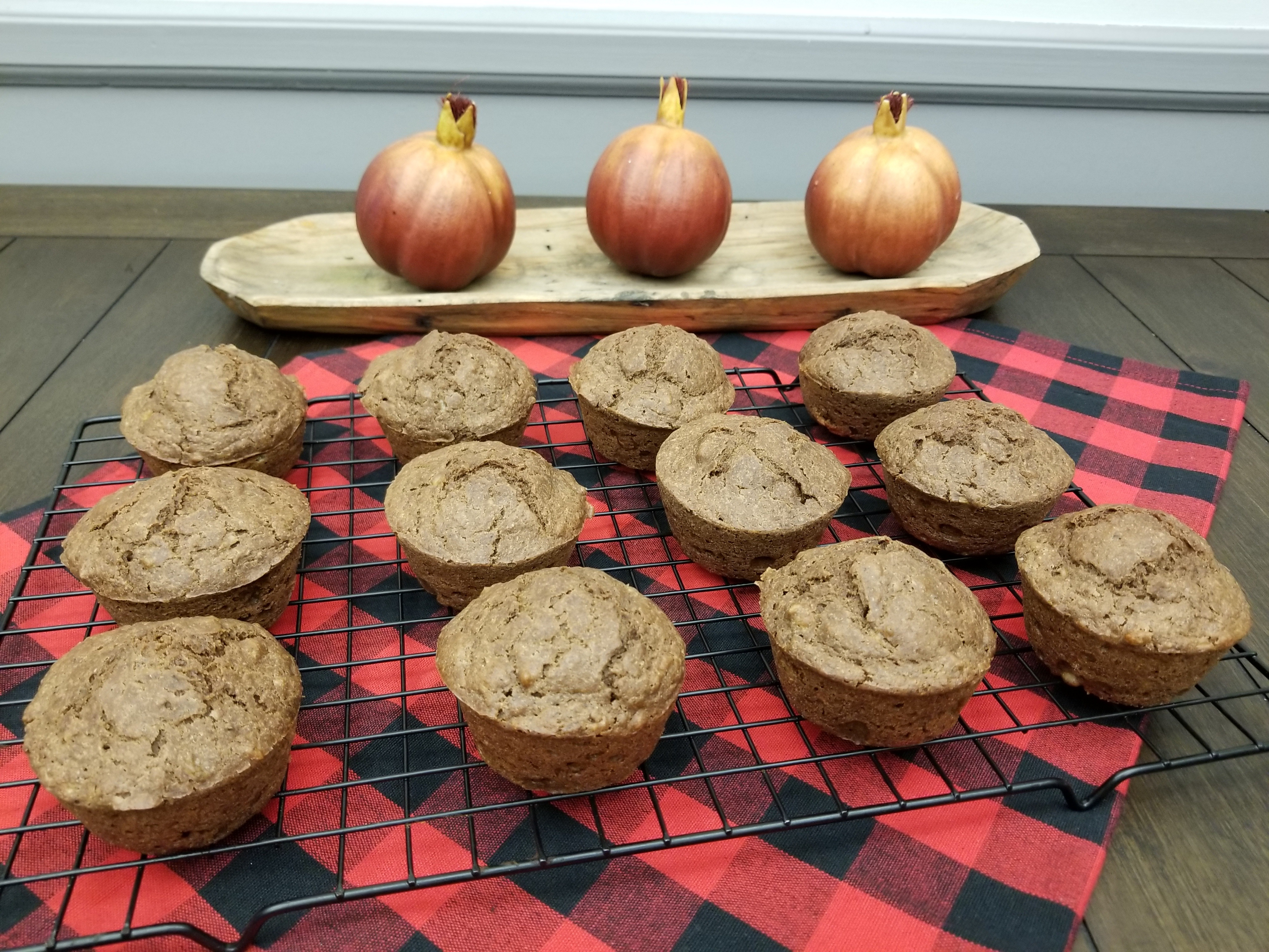 chocolate banana spice muffins2