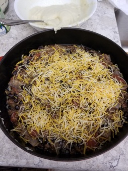 Tamale black bean casserole5