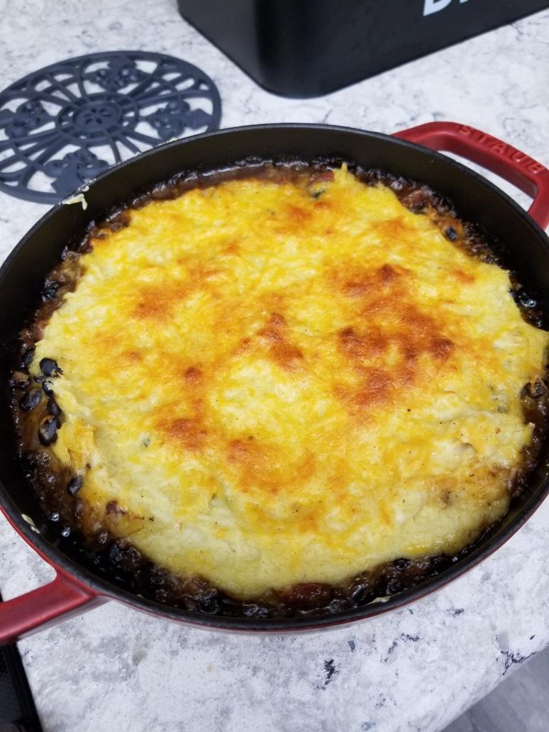 Tamale black bean casserole9