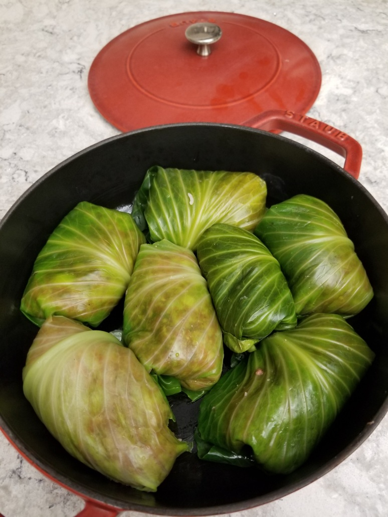 ZaAtar Beef Stuffed Cabbage