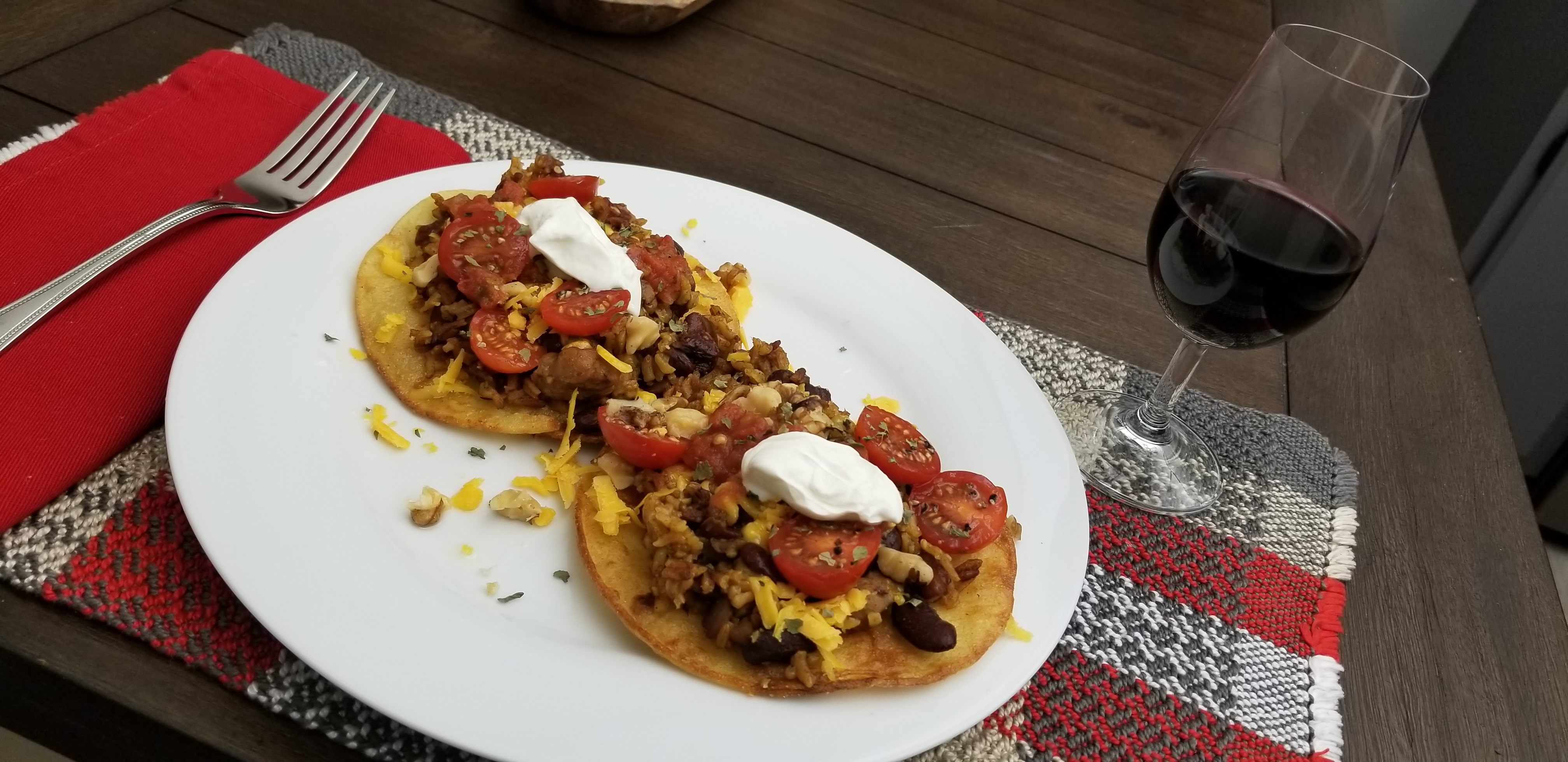 Rice Bean Meat Tostados