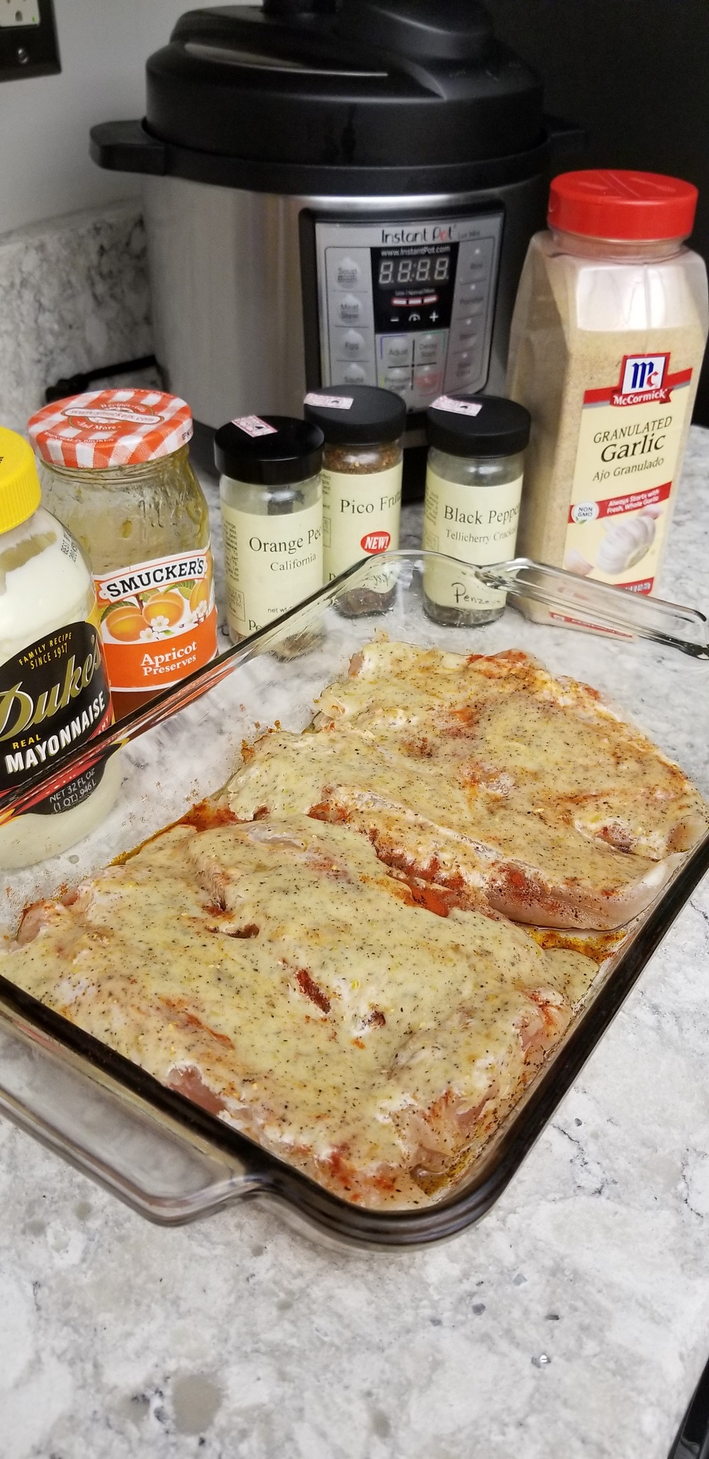 Creamy Apricot Baked Chicken Breasts