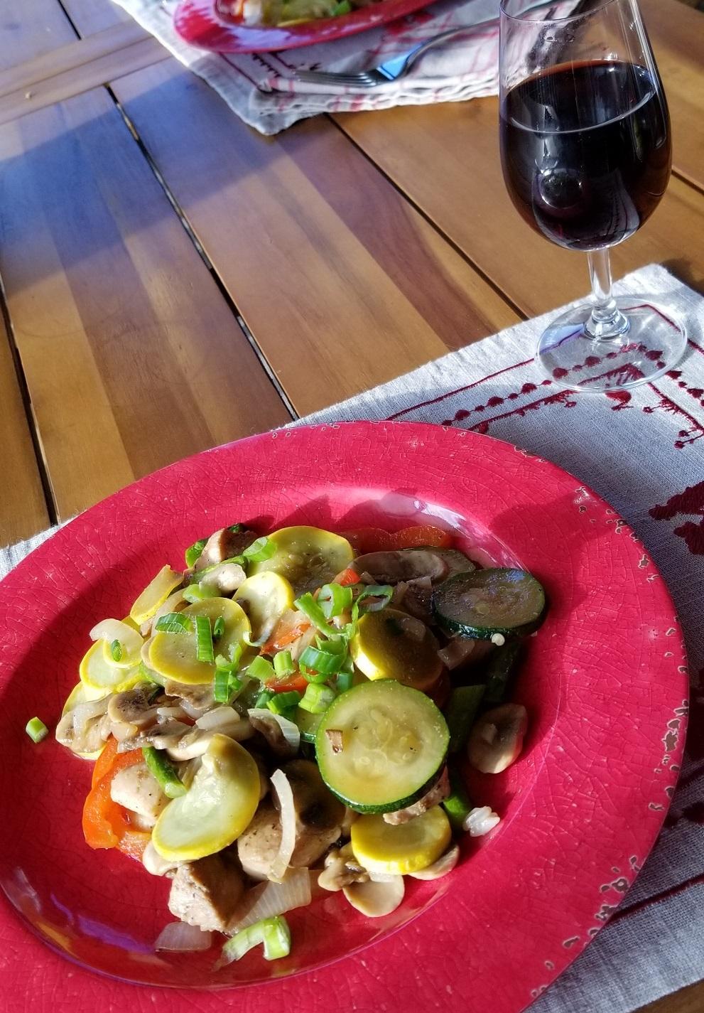 stir fried chicken with vegetables13